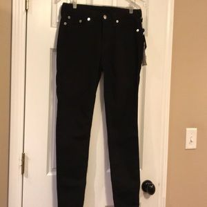 True Religion Black curvy skinny jeans